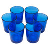 Vintage Libbey Cobalt Blue Rocks Glasses Top View | The Hour Shop