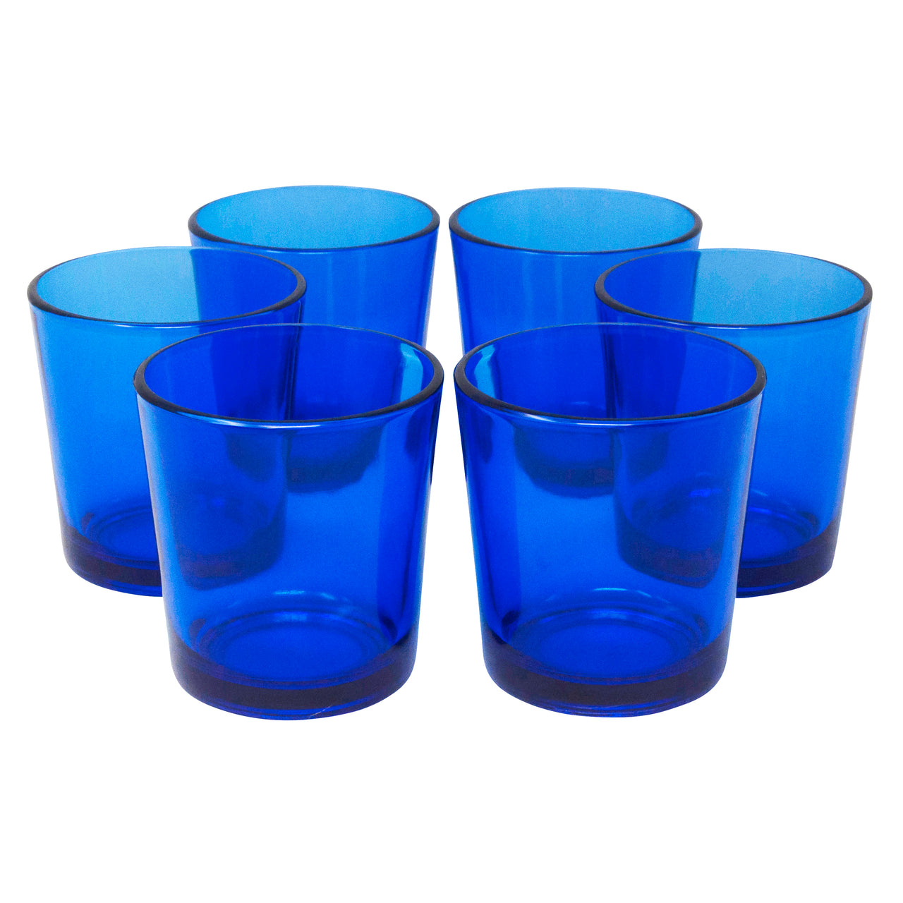Vintage Libbey Cobalt Blue Rocks Glasses | The Hour Shop