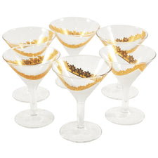Gold & Frost Cocktail Glasses