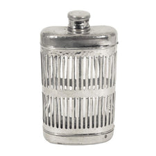 Chrome Plated Caged Glass Flask | The Hour Shop Vintage