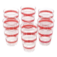 Vintage Red & White Stripe Tumblers | The Hour Shop