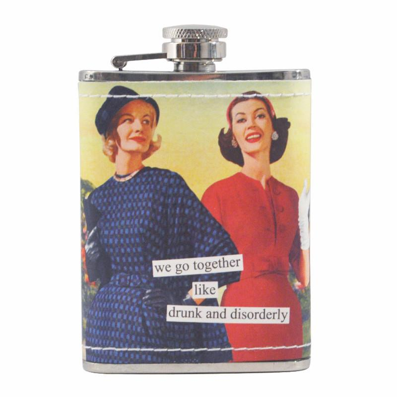 Drunk & Disorderly Anne Taintor Flask | The Hour Shop Barware