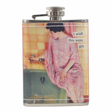 Anne Taintor Bathtub Gin Flask, The Hour Shop Barware