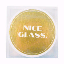 Nice Glass Paperboard Coasters, The Hour Shop Barware