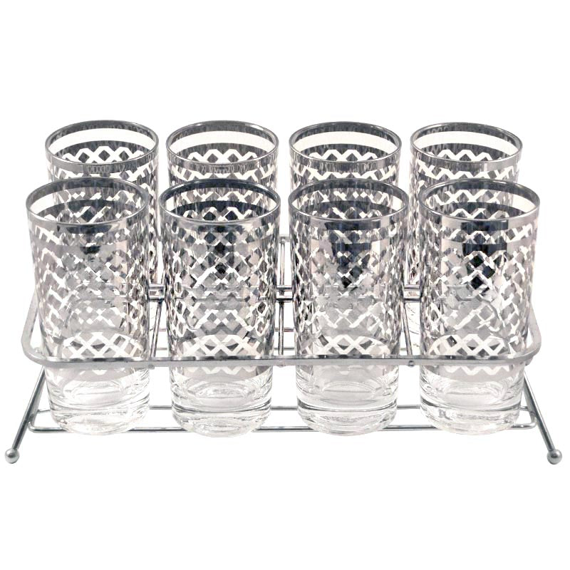 Mercury Diamonds Collins Glass Caddy
