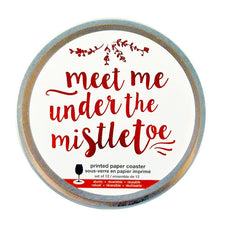 Mistletoe Paperboard Coaster Tin | The Hour Christmas Barware