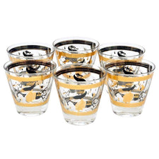 Vintage Fred Press Black Gold Trojan Horse Glasses, The Hour Shop
