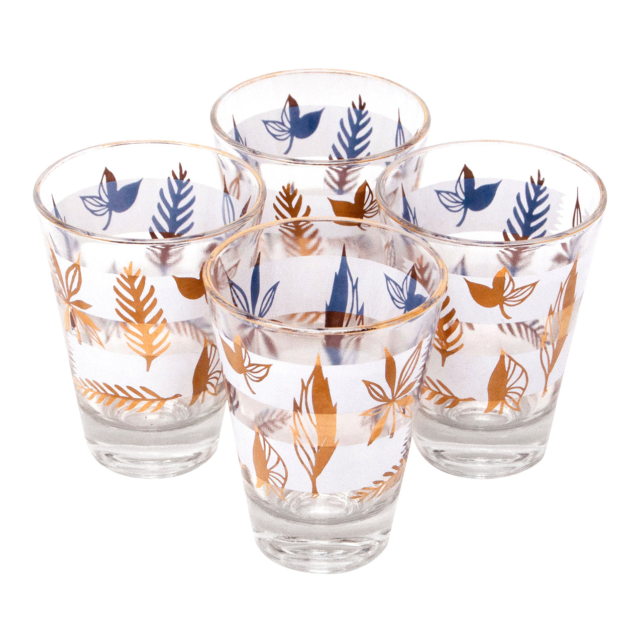 Vintage Autumn Leaves Single Old Fashioned Glasses | The Hour Shop