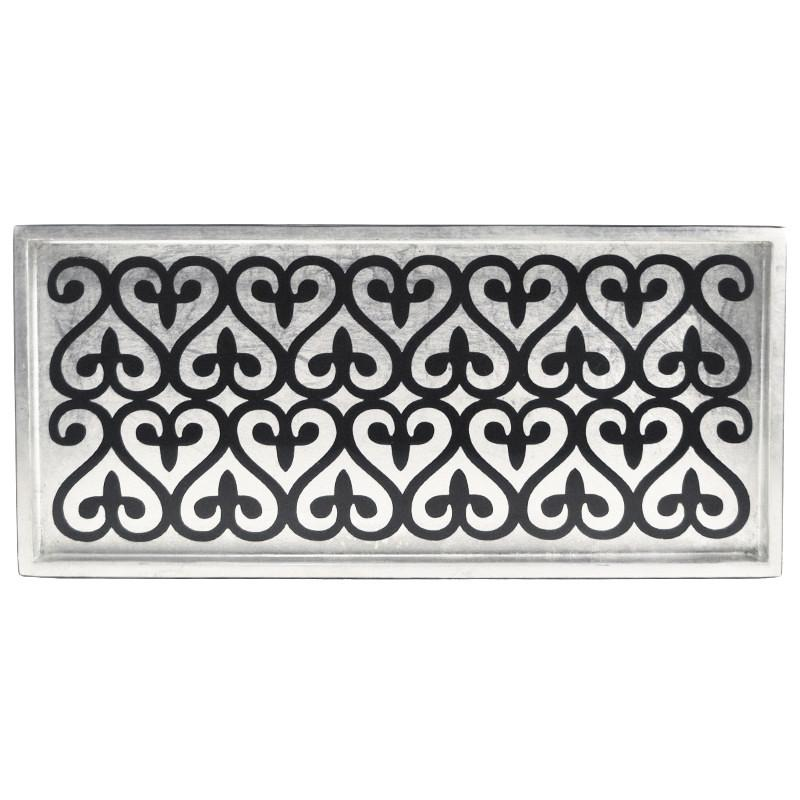 J. Fleet Designs Silver Leaf & Black 2 Drink Tray, The Hour