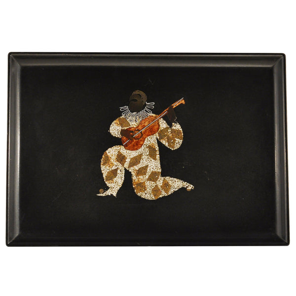 Couroc Harlequin Minstrel Tray, The Hour Shop Vintage