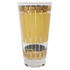 Fred Press Gold Crown Yellow Stripe Collins Glass | The Hour Shop