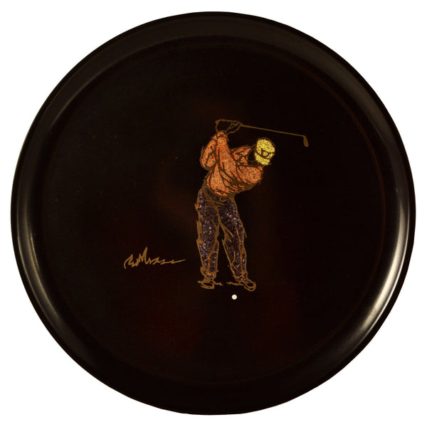 Vintage Couroc Round Golfer Tray, The Hour Shop