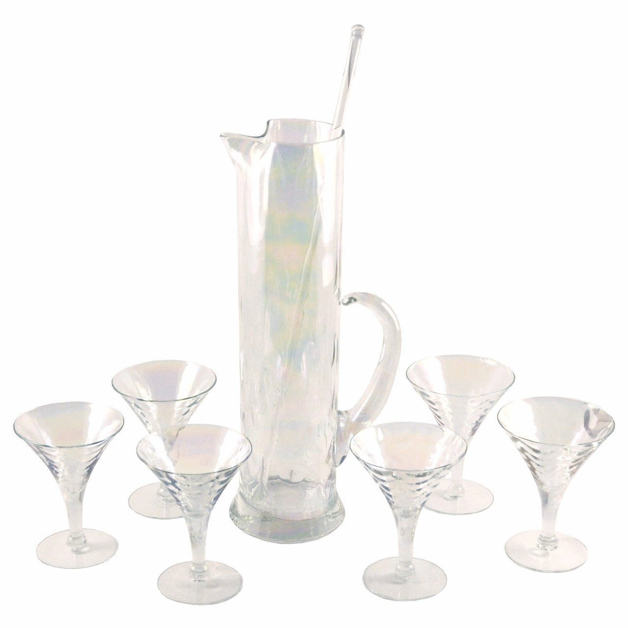 Draping Iridescent Cocktail Pitcher Set | The Hour Shop Vintage