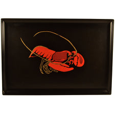 Vintage Couroc Red Lobster Tray, The Hour Shop