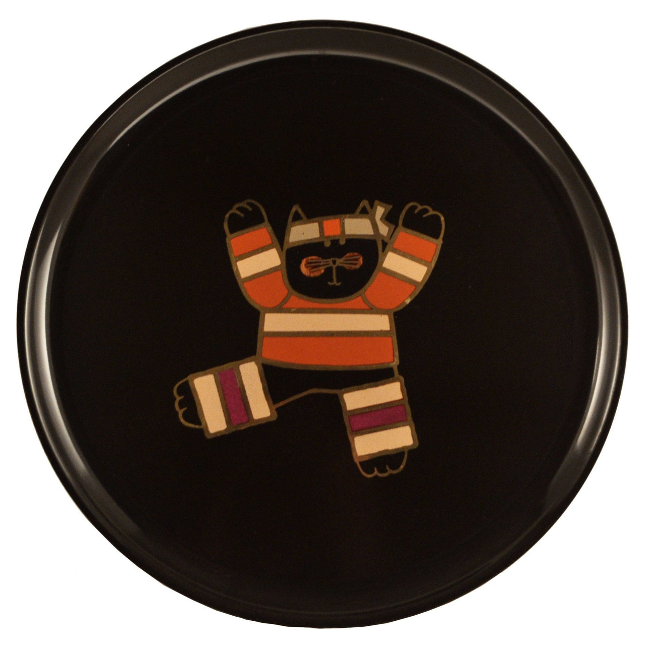 Couroc Karate Cat Round Tray