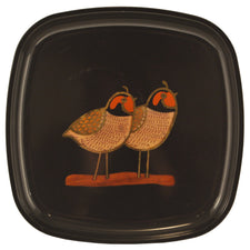 Couroc 2 Calling Birds Square Tray, The Hour Shop Vintage Barware