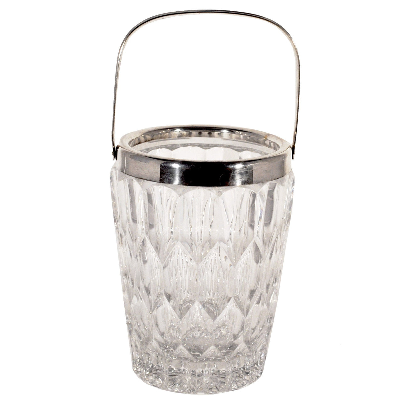 Vintage Mini Crystal & Silver Ice Bucket, The Hour Shop