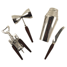 Vintage Glo Hill Cocktail Shaker Bar Tool Set, The Hour Shop