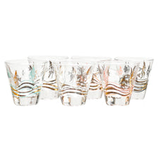 Vintage Fred Press Angel Fish Single Old Fashioned Glasses | The Hour Shop