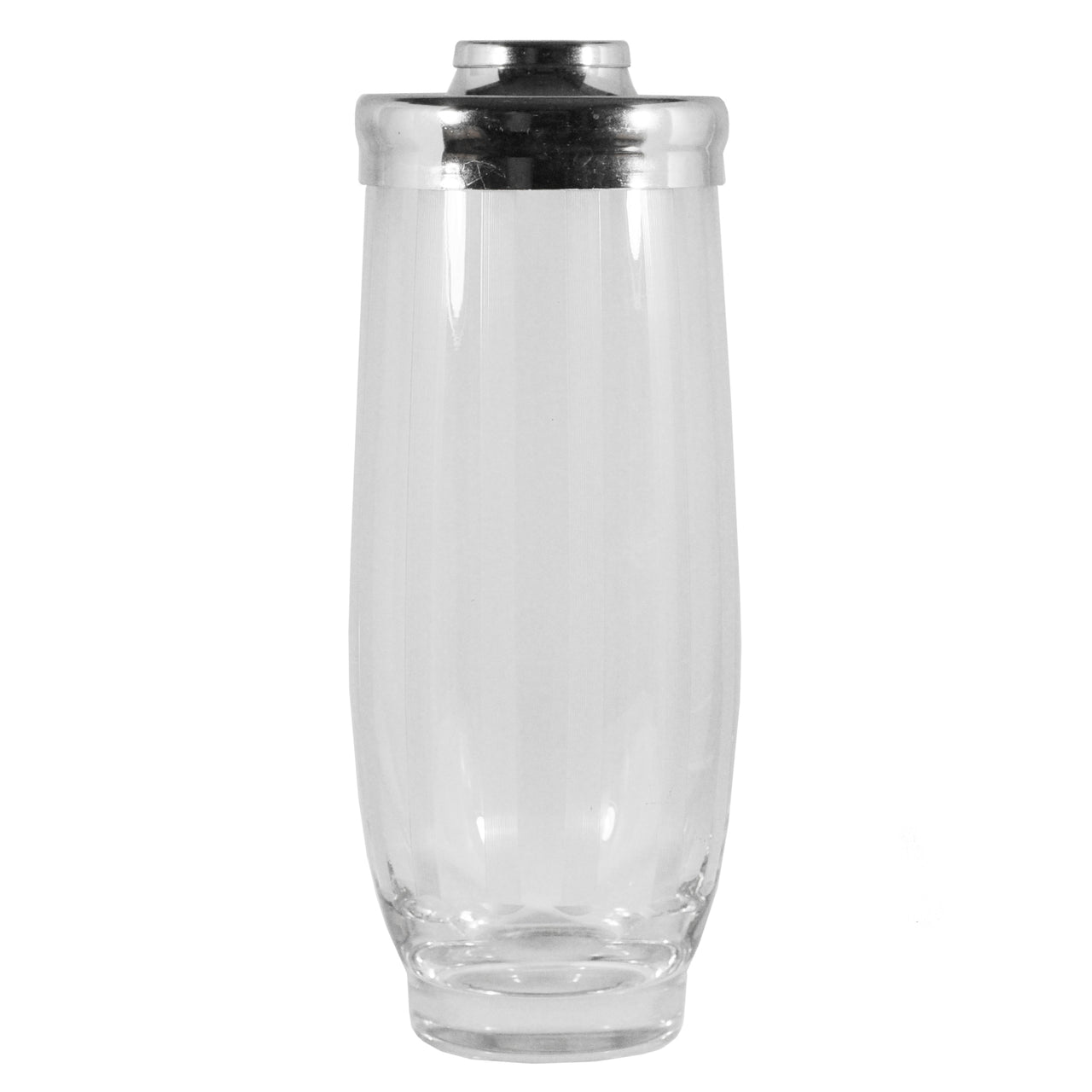 Vintage Rounded Etched Lines Glass Cocktail Shaker | The Hour Shop