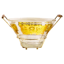 Vintage Yellow & Gold Bowl Caddy, The Hour Shop
