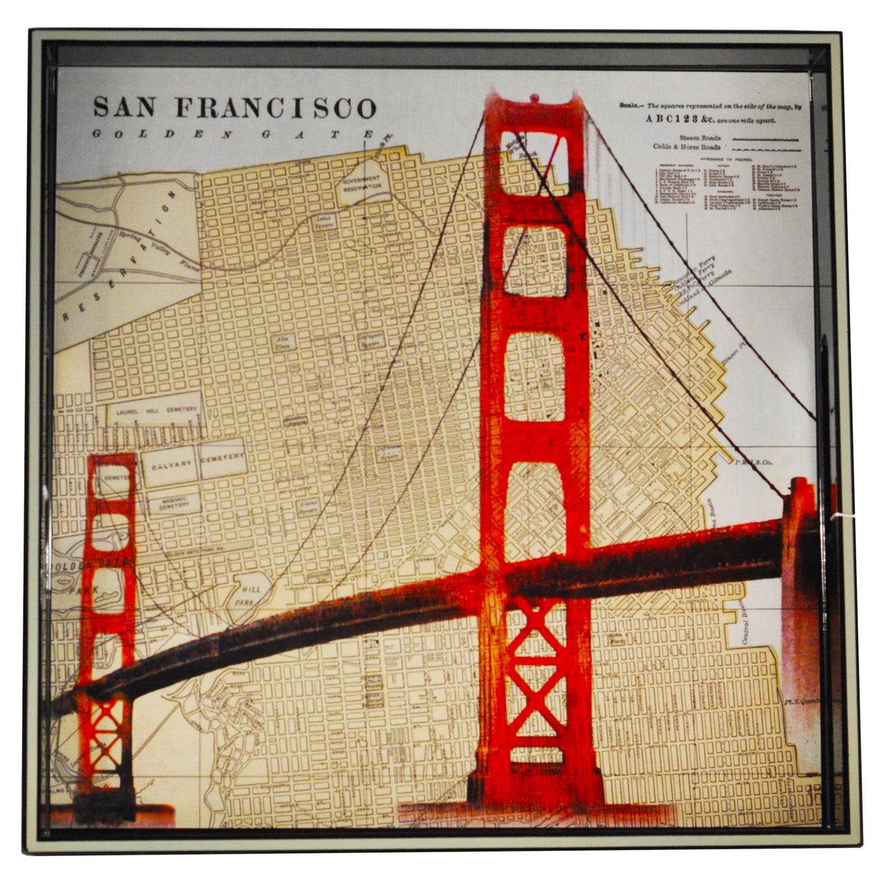 San Francisco Map Lacquer Tray | The Hour Home Bar Decor