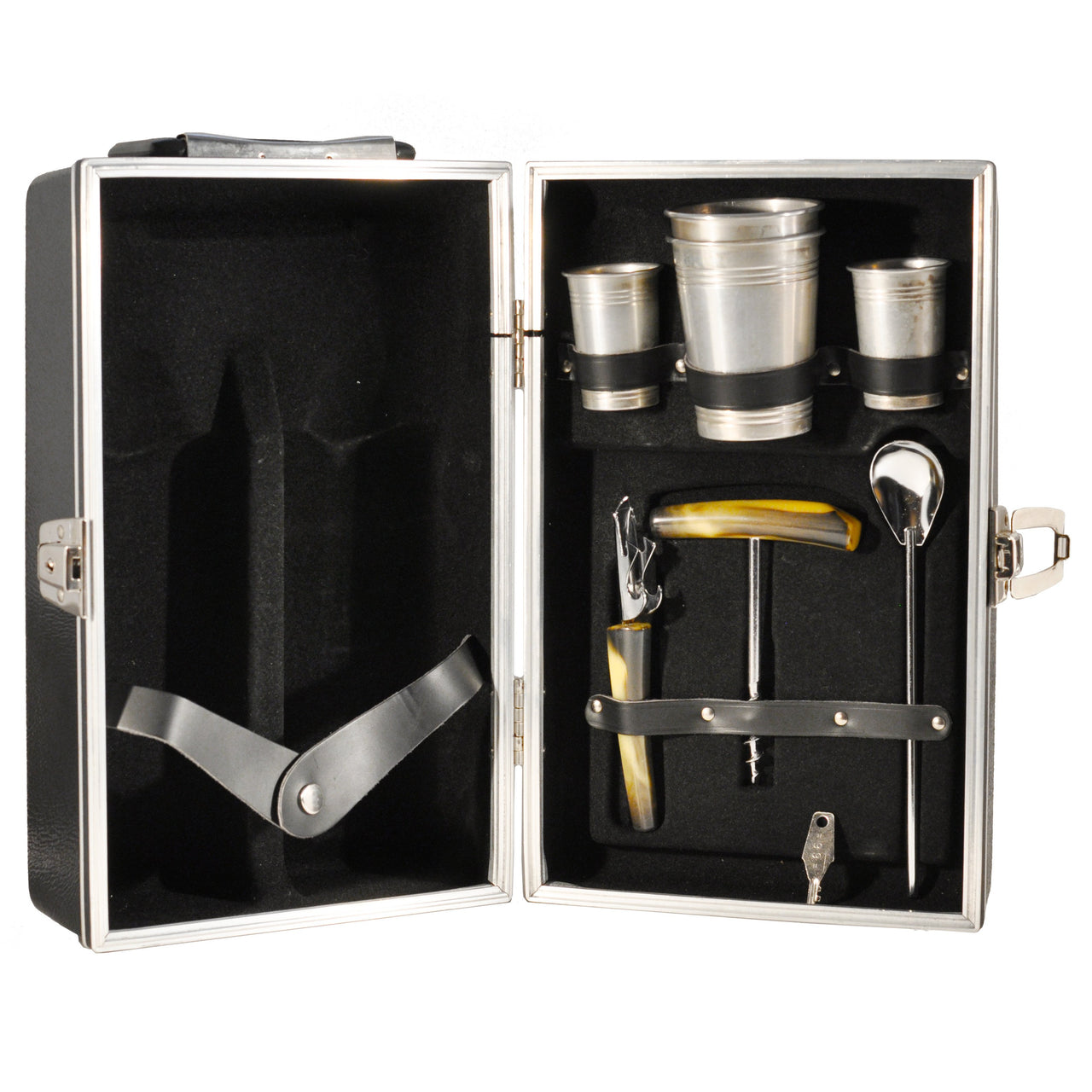 2 Bottle Black Travel Bar Case | The Hour Shop Vintage