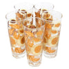 Yellow & Gold Chrysanthemum Collins Glasses