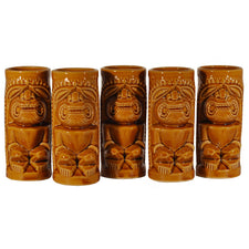 Vintage Japanese Orchids of Hawaii Tiki Mugs, The Hour Shop