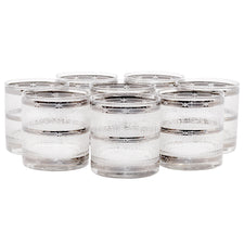 Silver Band Icicle Rocks Glasses