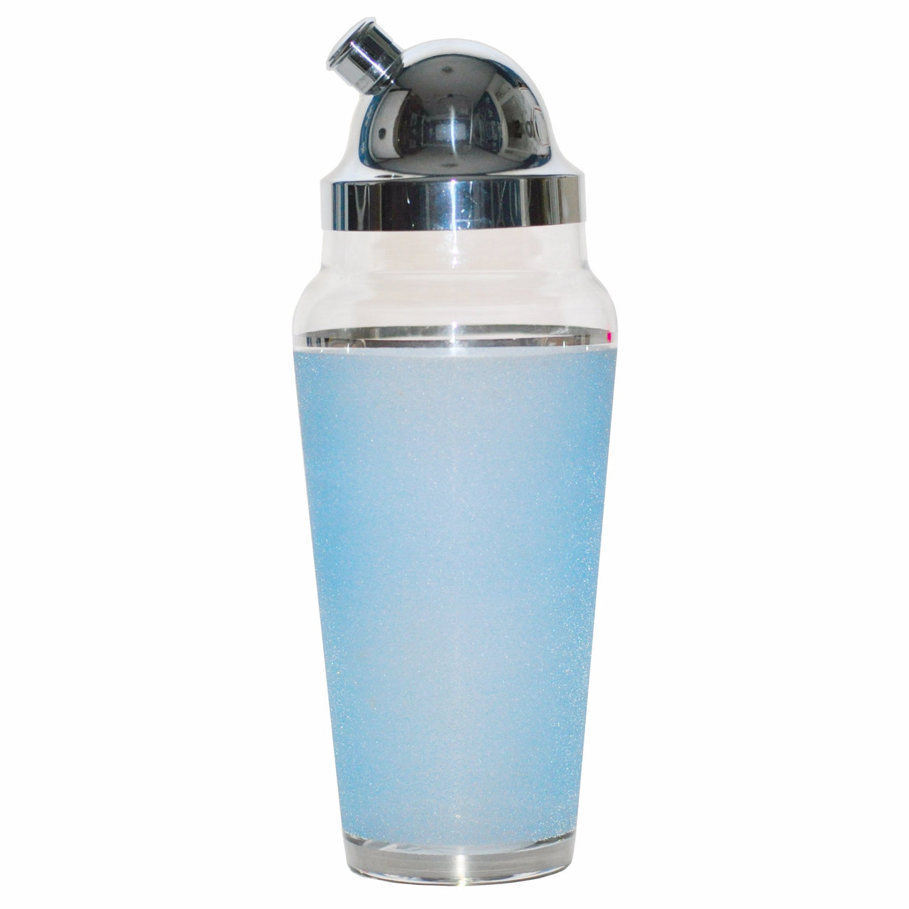 Light Blue Frosted Cocktail Shaker, The Hour Shop Vintage Barware