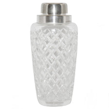 Vintage Diamond Cut Crystal Cocktail Shaker, The Hour Shop