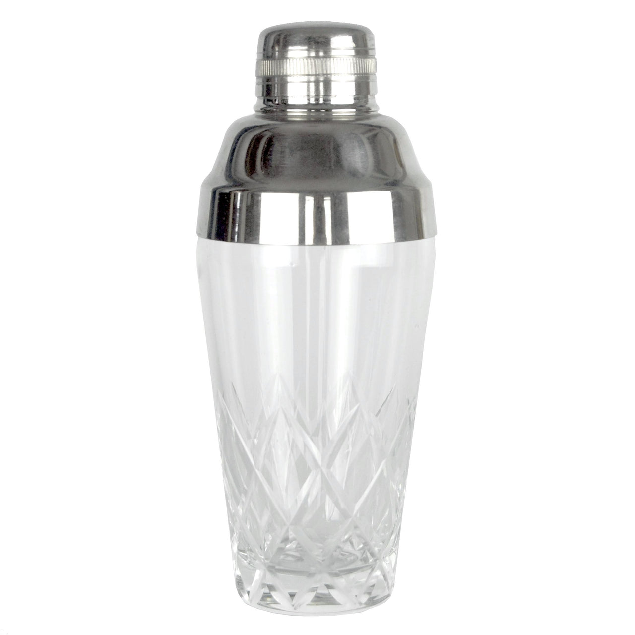 Vintage Cut Clear Glass Cocktail Shaker, The Hour Shop