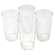 Vintage Sasaki Etched Bamboo Collins Glasses | The Hour Shop