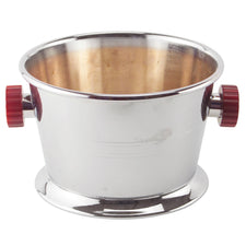 Vitnage Glo Hill Chrome Cranberry Bakelite Handle Ice Bucket | The Hour