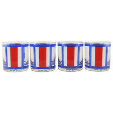 G. Briard Red White & Blue Rocks Glasses | The Hour Vintage