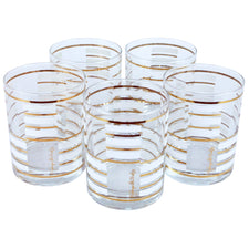 G. Briard White Gold Bar Rocks Glasses | The Hour Shop Vintage