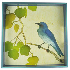 Bluebird Square Lacquer Tray | Rock Flower Paper | The Hour