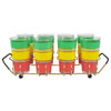 Vintage Red Yellow & Green Band Glass Caddy, The Hour Shop