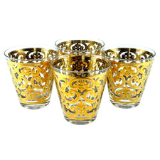 Vintage Georges Briard Gold Fleur-de-lis Glasses, The Hour Shop