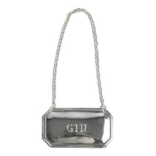 Silver Plate Gin Decanter Tag Label, The Hour Shop Barware