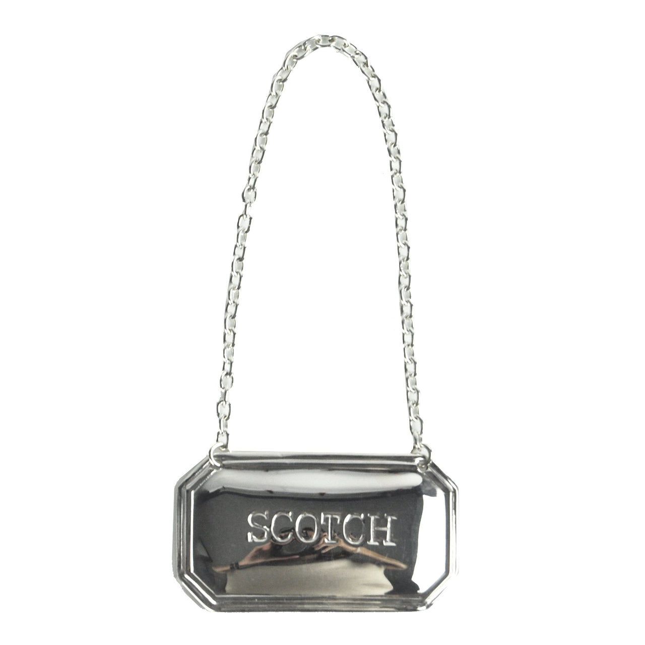 Silver Plate Scotch Decanter Label | The Hour Shop Barware