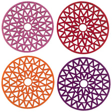 Molly M Designs Yves Felt Laser Cut Coasters, The Hour Shop