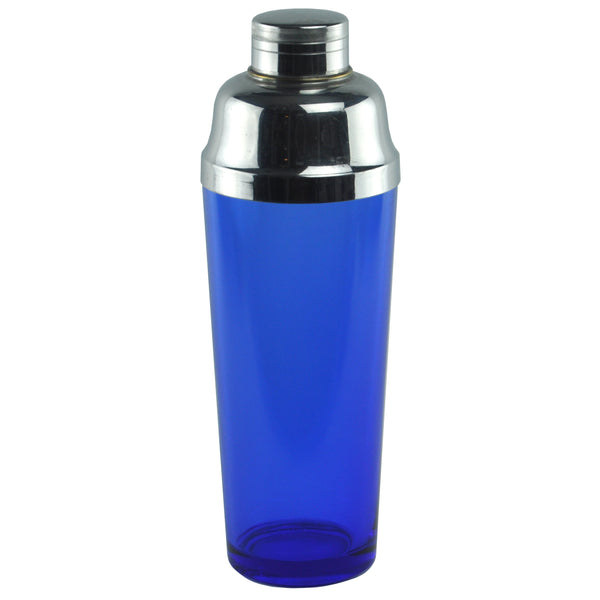 Vintage Cobalt Blue Glass Deco Cocktail Shaker, The Hour Shop