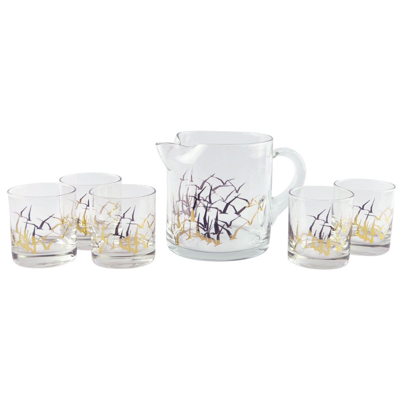 Gold Seagulls Cocktail Pitcher Set | The Hour Shop Vintage