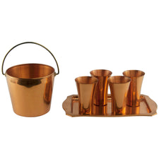 West Bend Copper Bucket Set | The Hour Shop Vintage Barware