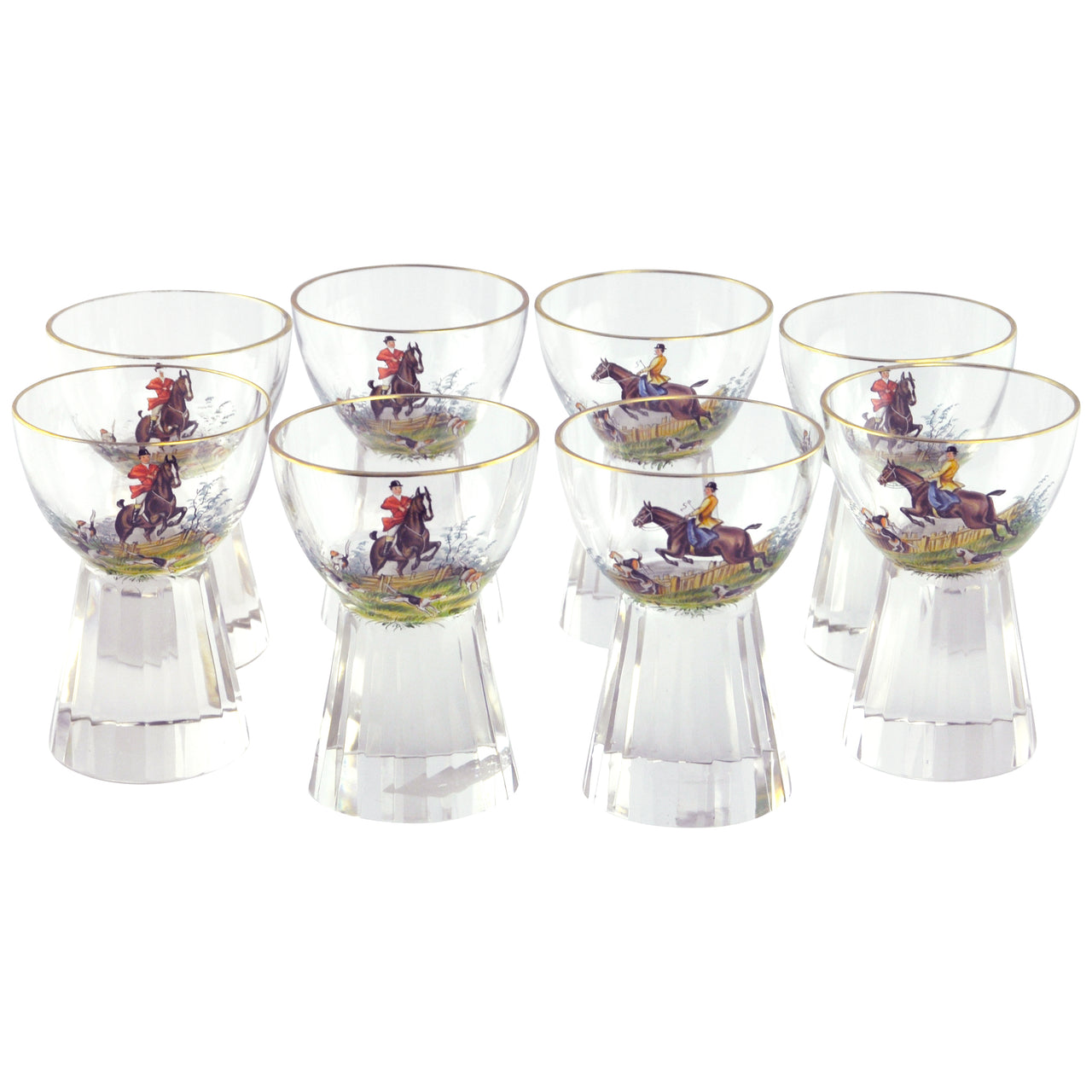 Crystal Equestrian Cocktail Glasses