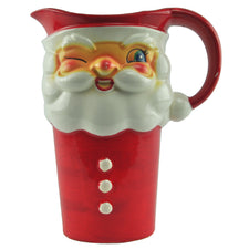 Holt Howard Tall Santa Ceramic Pitcher, The Hour Shop