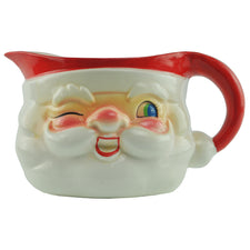 1960s Vintage Holt Howard Ceramic Santa Pitcher, The Hour