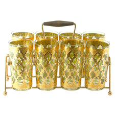 Culver Valencia Collins Glass Caddy Set | The Hour Shop Vintage